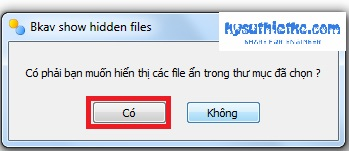 Download FixAttrb Bkav 3.0.0.1 - Phần mềm hiện file ẩn cho USB tốt nhất 4