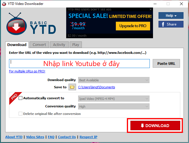 YTD Video Downloader Pro 7.1 - Tải video Youtube, Facebook nhanh nhất 4