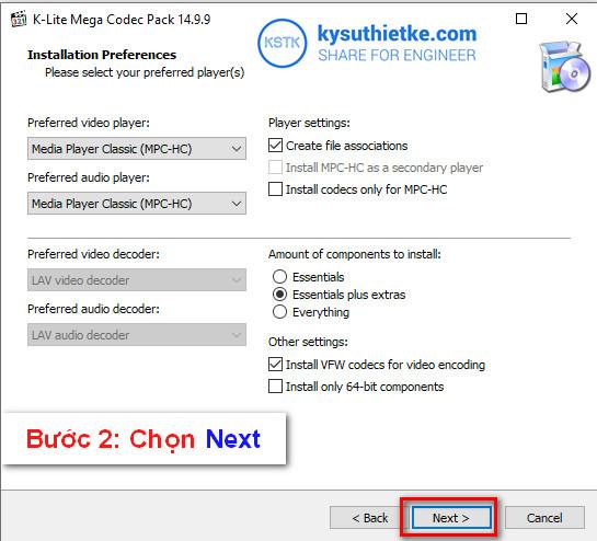 Download K-Lite Mega Codec Pack 14 9 9 - Hướng dẫn cài đặt
