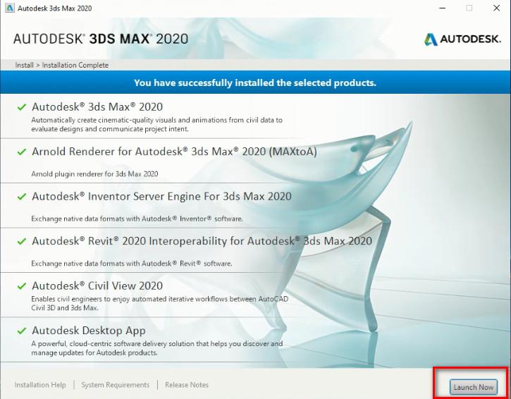 Chạy cài đặt Autodesk 3DS Max