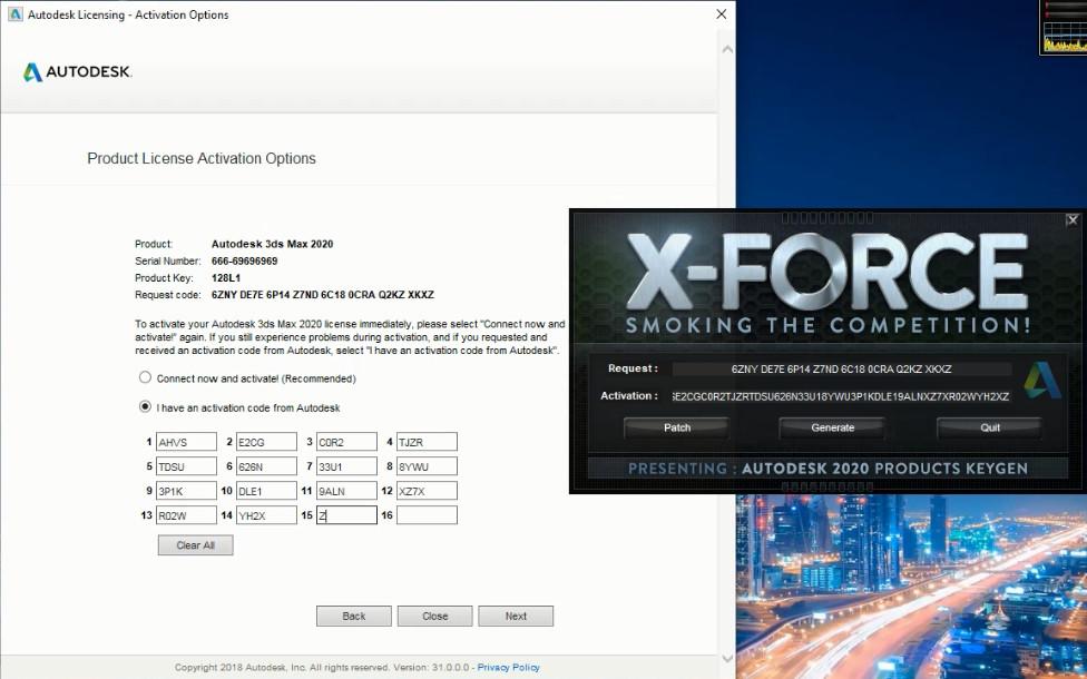 Nhập Key để Active Autodesk 3ds Max 2020