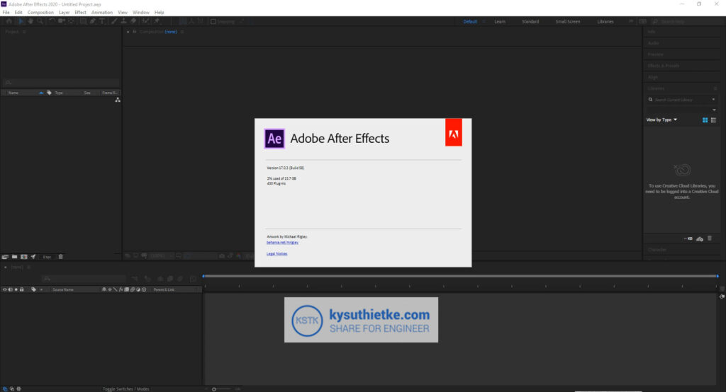 Giao Diện Adobe After Effects 2020