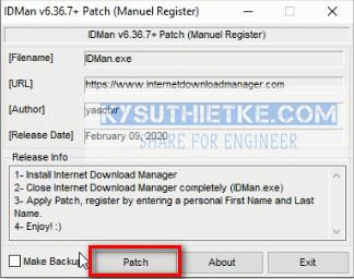 Active IDM mới nhất bằng Patch