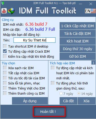 Toolkit 4.1 crack IDM mới nhất