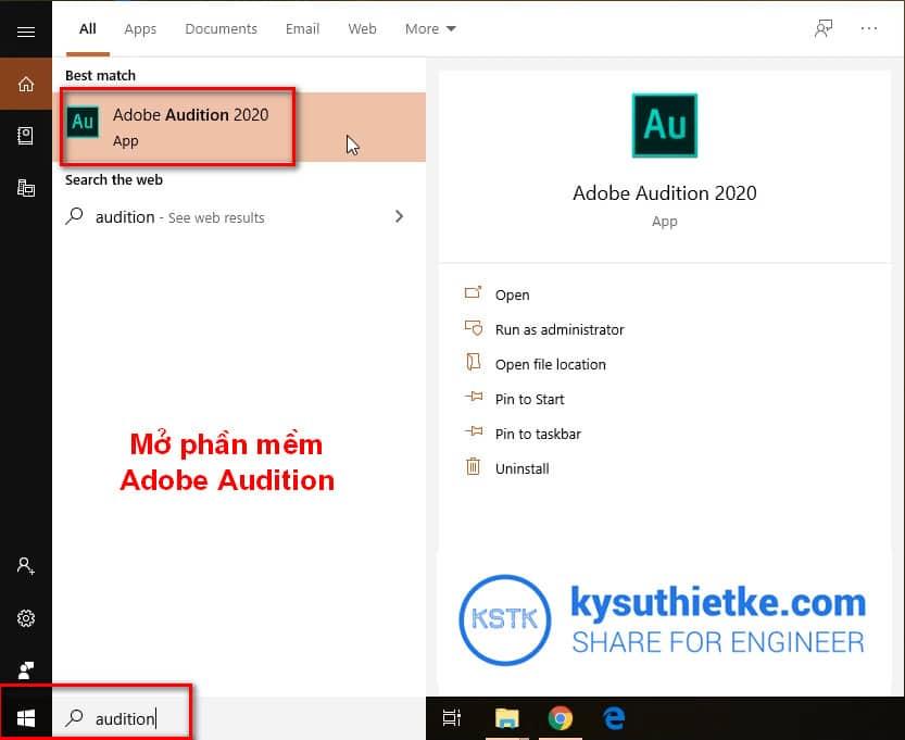 Khởi động phần mềm Adobe Audition Full Active