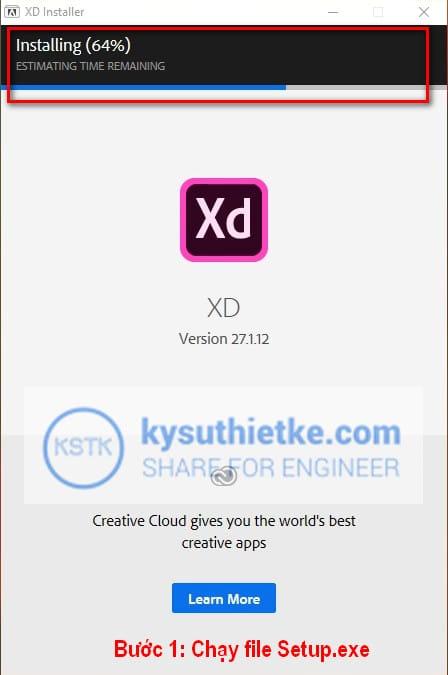 Cài đặt phần mềm Adobe XD 2020