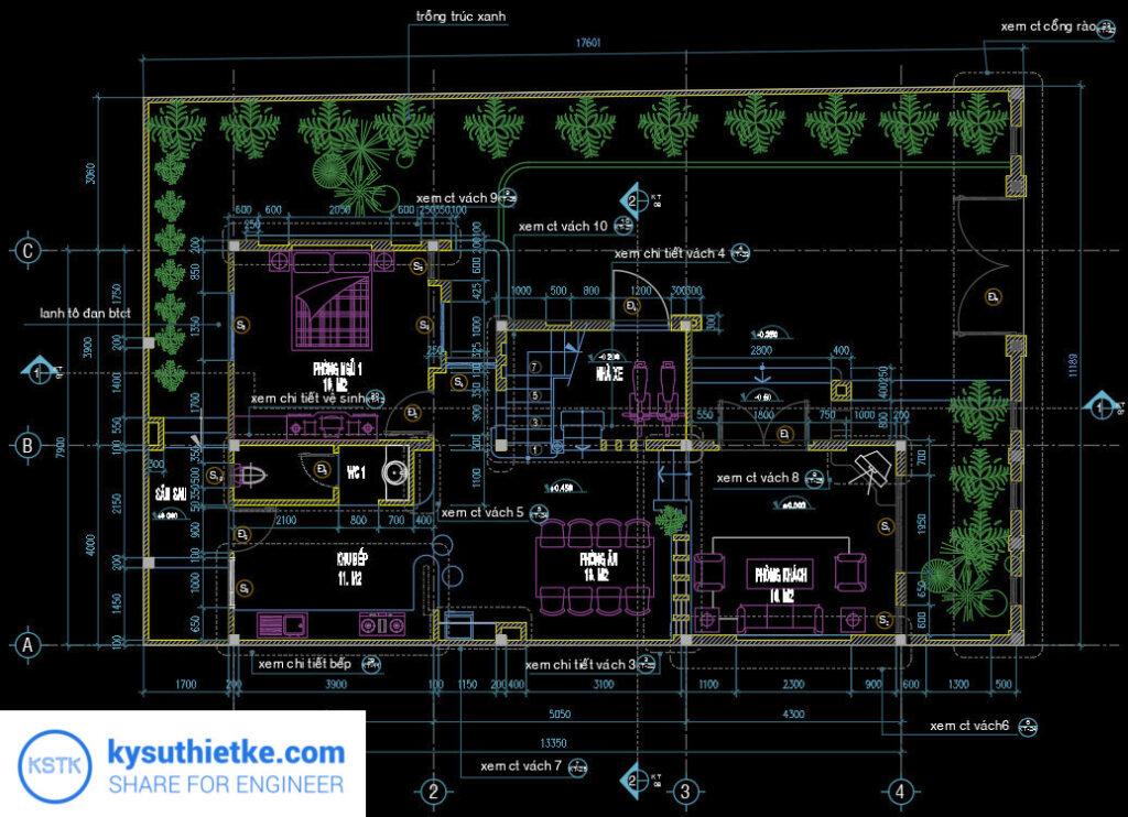 Download Thư Viện Dân Dụng 48 Bản vẽ Nhà phố, Biệt thự, chung cư,... 5
