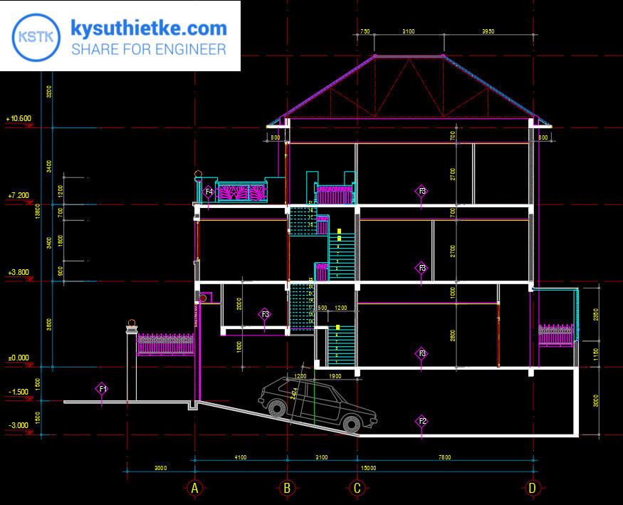 Download Thư Viện Dân Dụng 48 Bản vẽ Nhà phố, Biệt thự, chung cư,... 7
