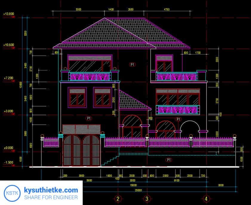 Download Thư Viện Dân Dụng 48 Bản vẽ Nhà phố, Biệt thự, chung cư,... 6