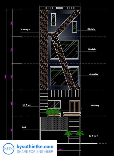 Download Thư Viện Dân Dụng 48 Bản vẽ Nhà phố, Biệt thự, chung cư,... 8