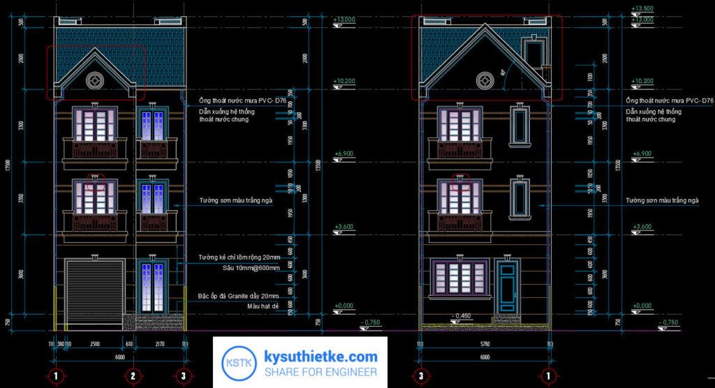 Download Thư Viện Dân Dụng 48 Bản vẽ Nhà phố, Biệt thự, chung cư,... 9