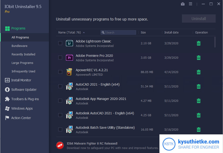 Theme IObit Uninstaller 9.5 Full Active