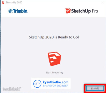 Install Finish SketchUP 2020