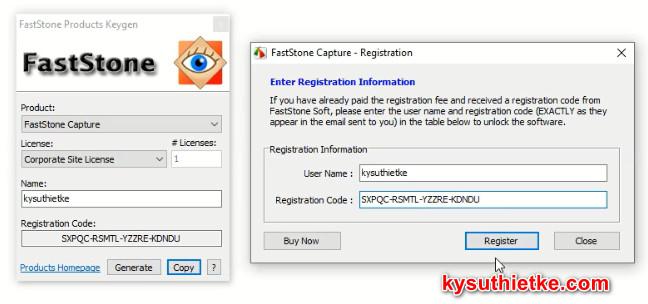 Key Active Faststone Capture