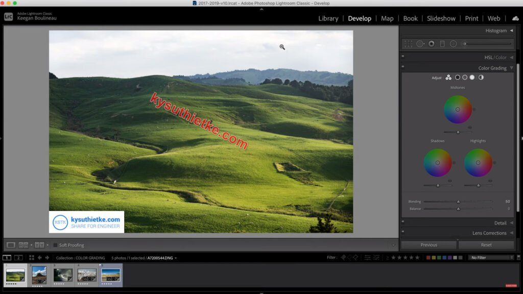 Giao diện phần mềm Adobe Photoshop Lightroom CC 2021 Pre-active