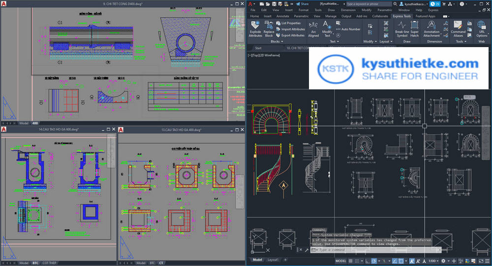 Download AutoCAD 2022 and what's news - Floating Drawing Windows