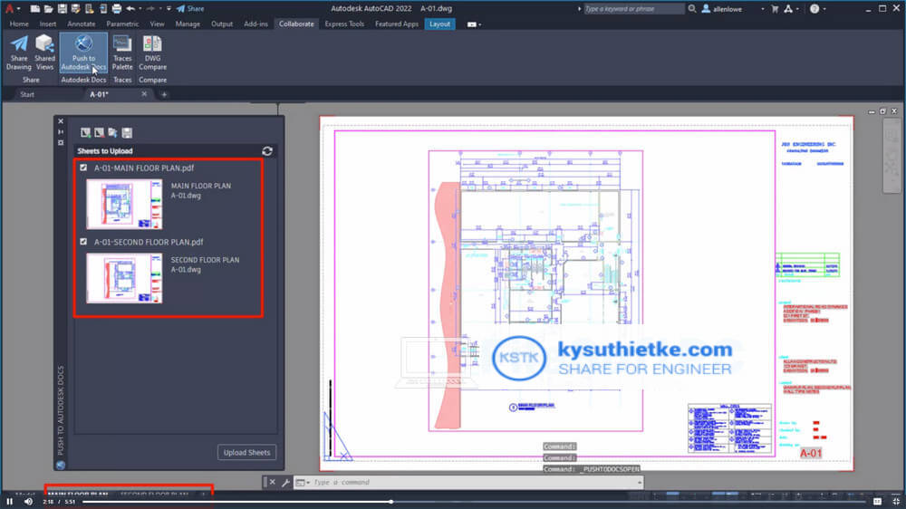 Download AutoCAD 2022 and what's news - Push to Autodesk Docs