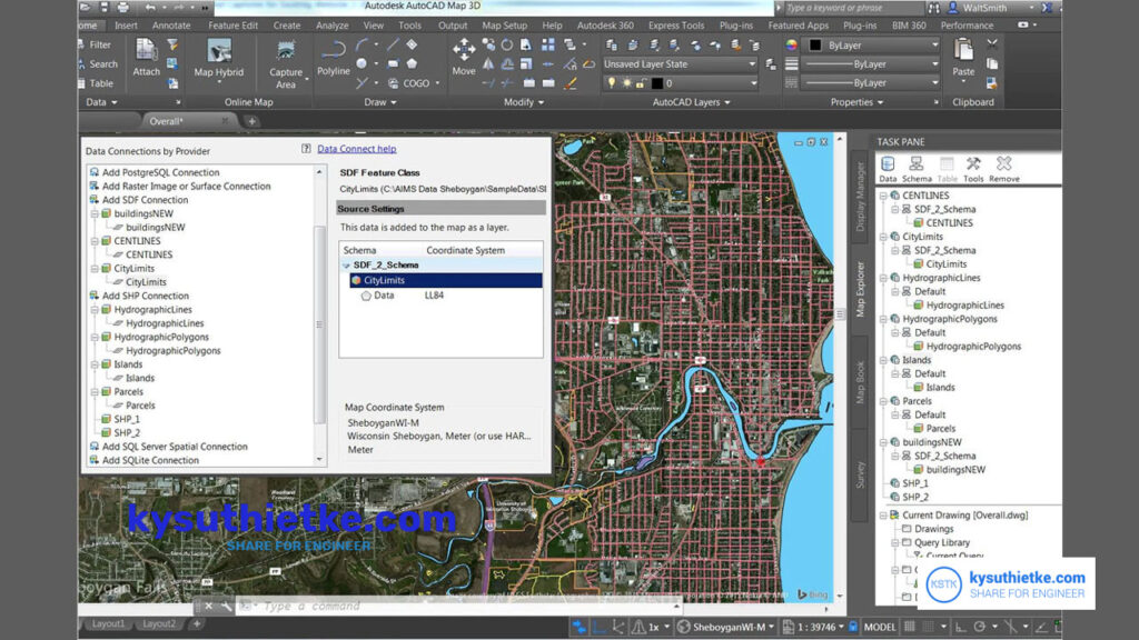 Giao diện phần mềm Download AutoCAD MAP 3D 2022 Full ACtive Free