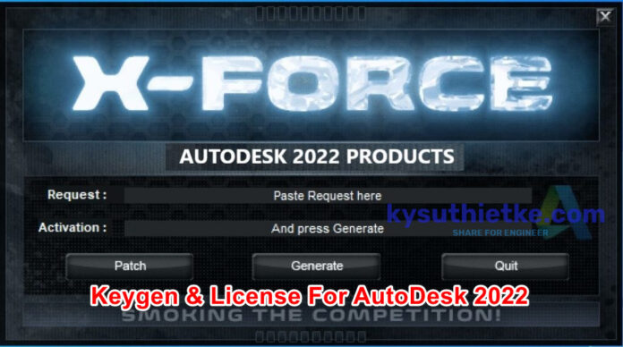 Download Xforce 2022 keygen and Product key Autodesk 2022